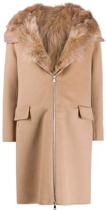 S.W.O.R.D 6.6.44 fur-trimmed hooded coat
