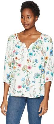 Karen Kane Women's Raglan Sleeve Button-up Top