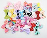 Cuhair(tm) 20pcs color random hair clip claw hairpin pin barrette accessores bowknot for boy girl baby