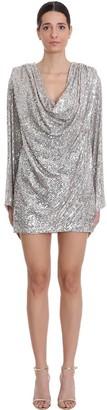 NERVI Carol Dress In Platinum Polyamide