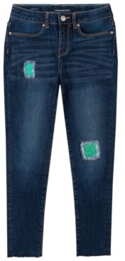 Calvin Klein Big Girl Sequin Repair Skinny Jean