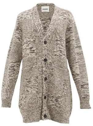 Jil Sander Oversized Recycled Cashmere Cardigan - Womens - Brown Multi