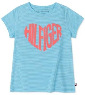 Tommy Hilfiger Big Girls Cotton Logo Heart T-Shirt