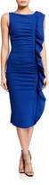 Chiara Boni Sleeveless Ruffle-Trim Bodycon Dress
