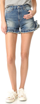 MSGM Ruffle Denim Shorts