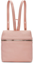 Kara Pink Small Leather Backpack