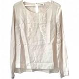 Bel Air Ecru Silk Top for Women