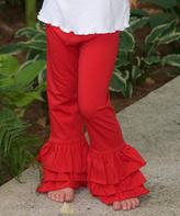 Princess Linens Red Ruffle Pants - Infant Toddler & Girls