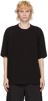 N.Hoolywood Black Drop Sleeve T-Shirt