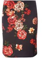 Dorothy Perkins Womens **Tall Red Floral Print Mini Skirt- Red