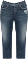 Silver Jeans Plus Size Distressed capri jeans