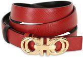 Salvatore Ferragamo 20mm Gancino Reversible Leather Belt