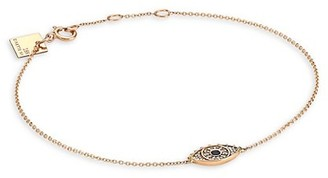 ginette_ny Ajna 18K Rose Gold, Diamond & Sapphire Eye Bracelet