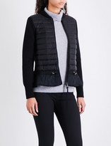 Moncler Quilted shell and virgin wool cardigan