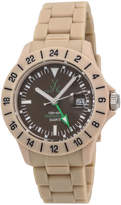 Toy Watch ToyWatch Jet Lag Plasteramic Bracelet Watch, Brown