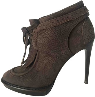 Burberry Brown Leather Ankle boots