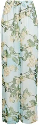 PatBO Floral Chiffon Wide-Leg Pants