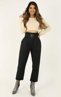 Showpo Paloma Pants In black - 6 (XS) Skinny Leg Pants