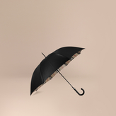 Burberry Oversize-Check Lined Walking Umbrella