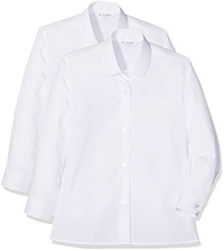 Trutex Girl's 2pk Ls Katie Collar Shirt,(Manufacturer Size:22)