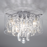 Illuminati Sophia Crystal Large Bathroom Light, Crystal Clear