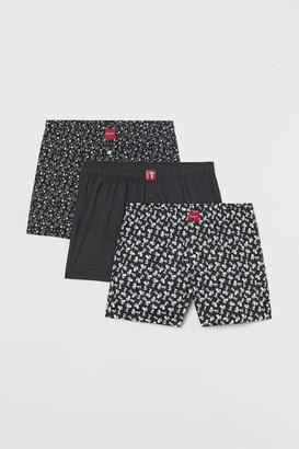 H&M 3-pack Boxer Shorts - Black