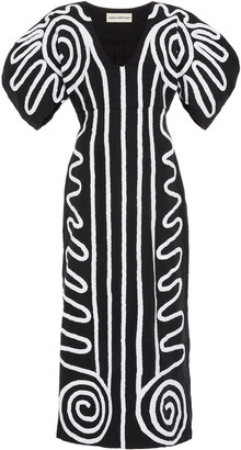 Mara Hoffman Melia Printed Cotton-Blend Midi Dress