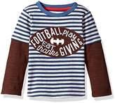 Mud Pie Baby Toddler Boys' Thanksgiving Football Game Time Long Sleeve Raglan T-Shirt
