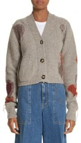 Acne Studios Women's Lysa Distressed Wool Button Cardigan
