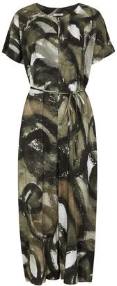 Crea Concept Printed Wide-leg Jumpsuit