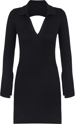 Anna October Irma Open Back Ribbed Knit Mini Dress