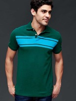 Gap Chest-stripe pique polo