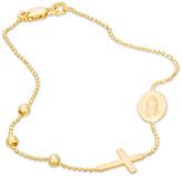 """Zales Rosary Bracelet in 10K Tri-Tone Gold - 7.5"""""""