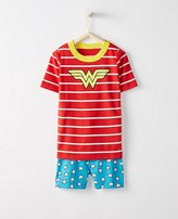 Kids DC ComicsTM Wonder Woman Short John Pajamas In Organic Cotton