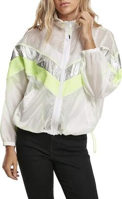 Urban Classics Women's Ladies 3-Tone Light Track Jacket Windbreaker