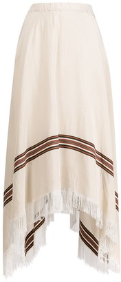 Fabiana Filippi Draped Fringed Midi Skirt