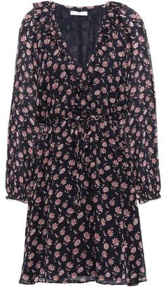 Joie Marelle Ruffle-trimmed Floral-print Silk-georgette Mini Dress