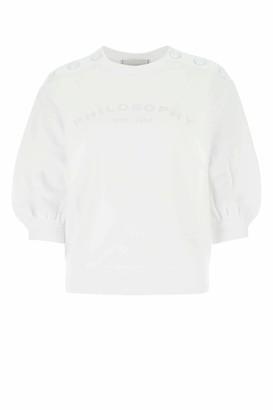 Philosophy di Lorenzo Serafini Logo Cropped Sleeve Sweatshirt