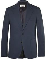 Maison Margiela Blue Slim-Fit Cotton-Twill Suit Jacket