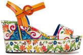 Dolce & Gabbana Majolica print platform sandals