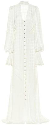 Balmain Exclusive to Mytheresa Houndstooth maxi dress