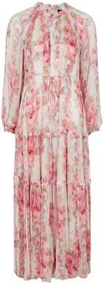 Needle & Thread Ruby Bloom floral-print chiffon gown