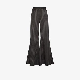 Natasha Zinko Striped flared trousers
