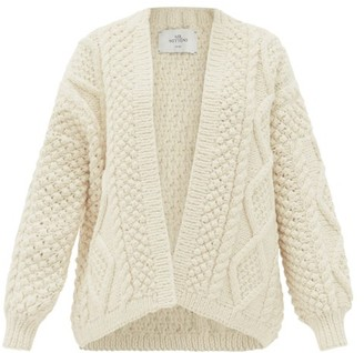 Mr Mittens - Kim Cable-knit Wool Cardigan - Ivory