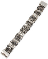 Kenneth Cole New York Silver-Tone Metallic Beaded Bracelet