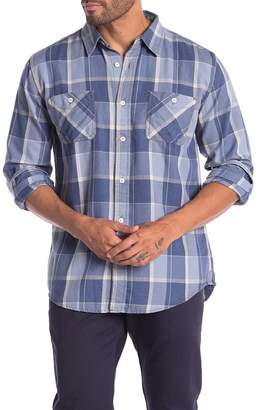 Weatherproof Vintage Burnout Plaid Print Regular Fit Flannel Shirt