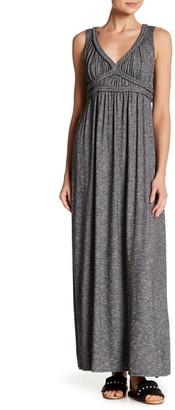 Max Studio Braided Trim Slub Maxi Dress