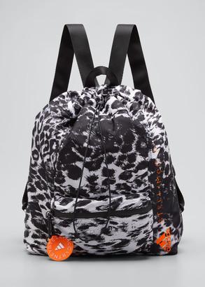 adidas by Stella McCartney Leopard-Print Drawstring Gym Backpack