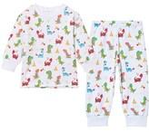 Kissy Kissy White Dinosaur Print Pyjamas