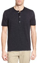 Billy Reid Men's Short Sleeve Henley Sweater